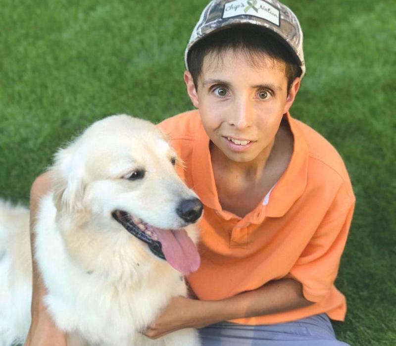 Chip Madren with Service Dog Vera